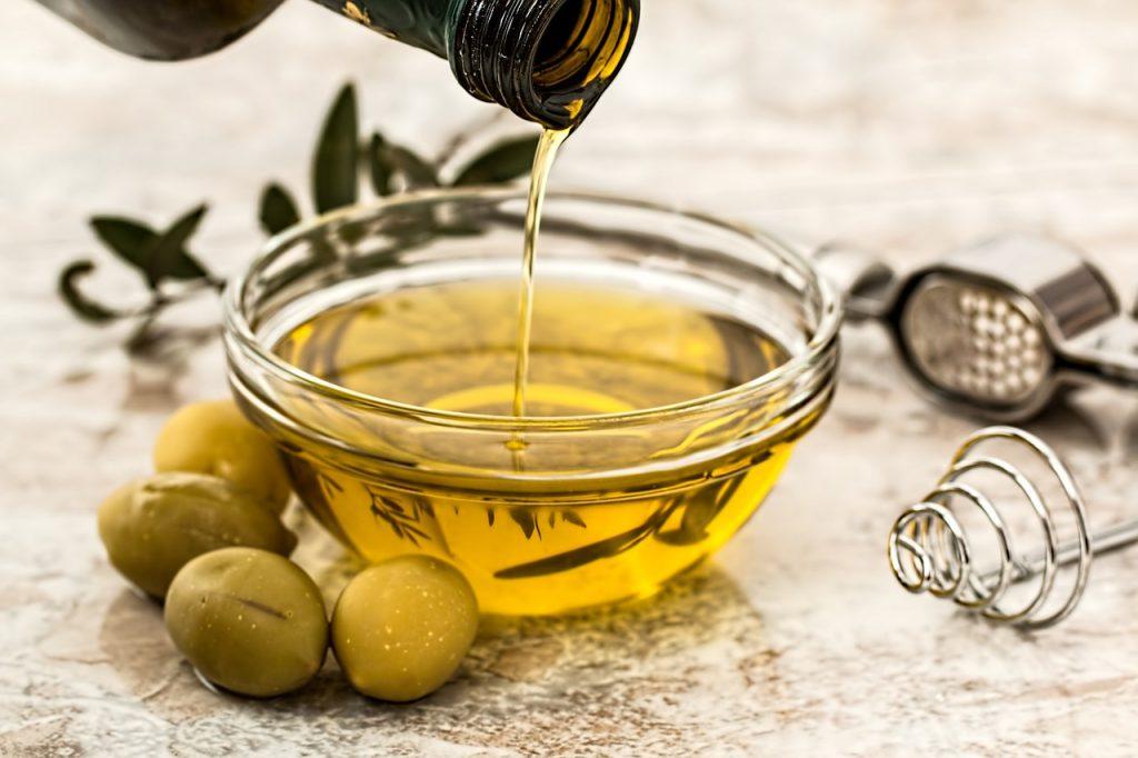 Glanzend haar olijfolie